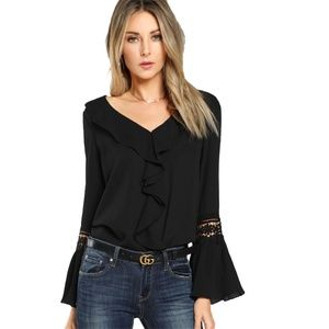 Tops - Black Long Sleeve Top